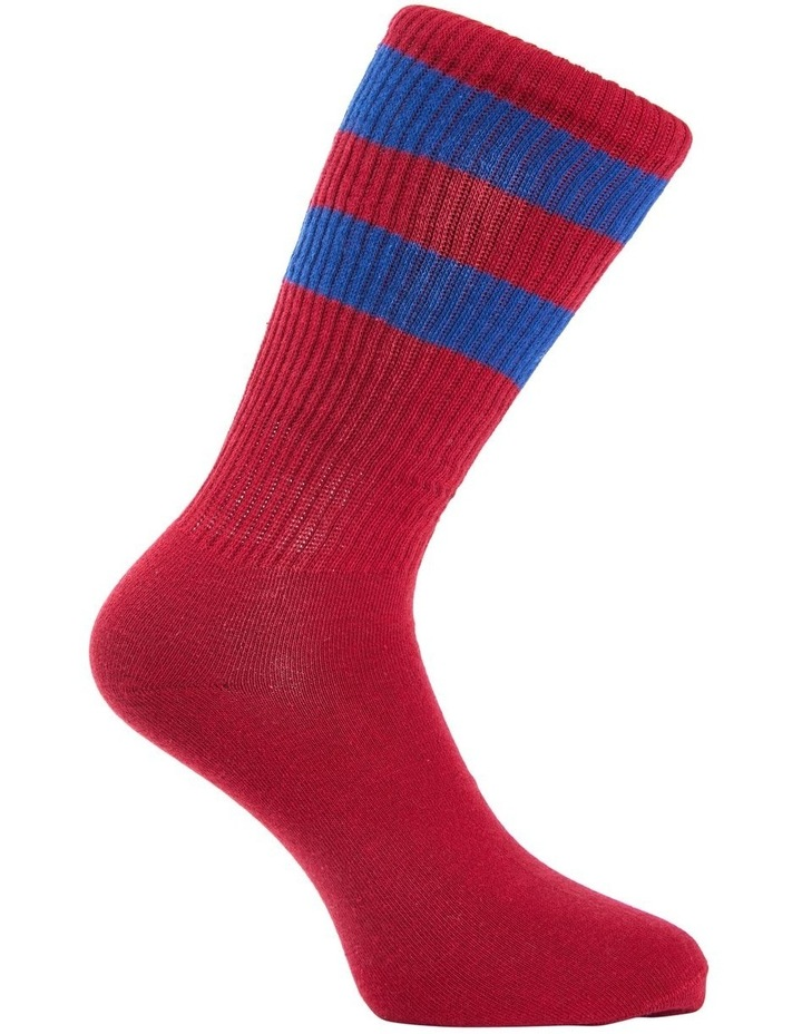 Block Stripe Sports Crew Sock image 3