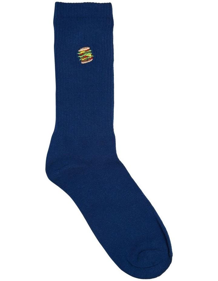 Hamburger Sports Rib Crew Sock image 1