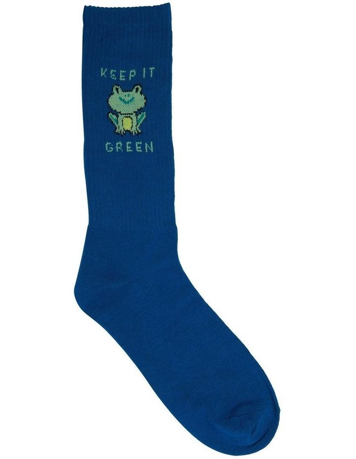 Keep It Green Rib Sports Crew Sock image 1