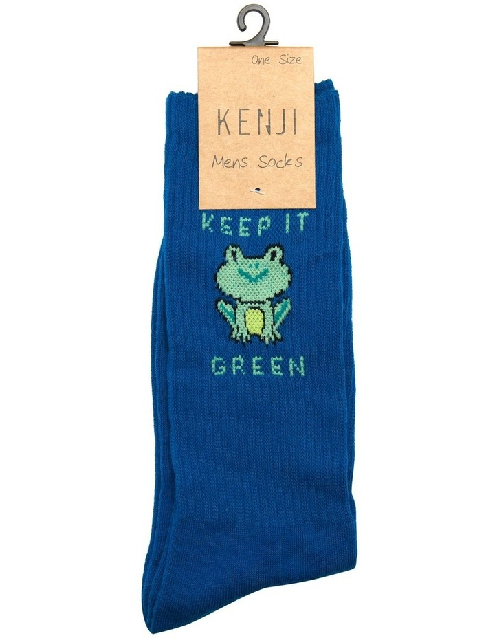 Keep It Green Rib Sports Crew Sock image 2