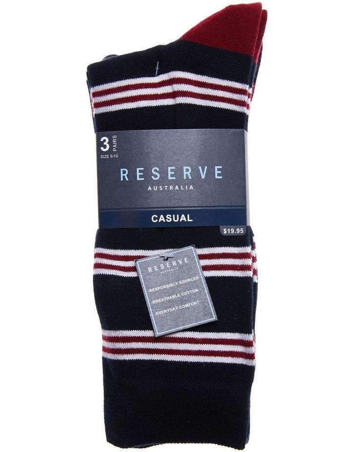 3 Pack Cotton Maritime Stripe Socks image 2