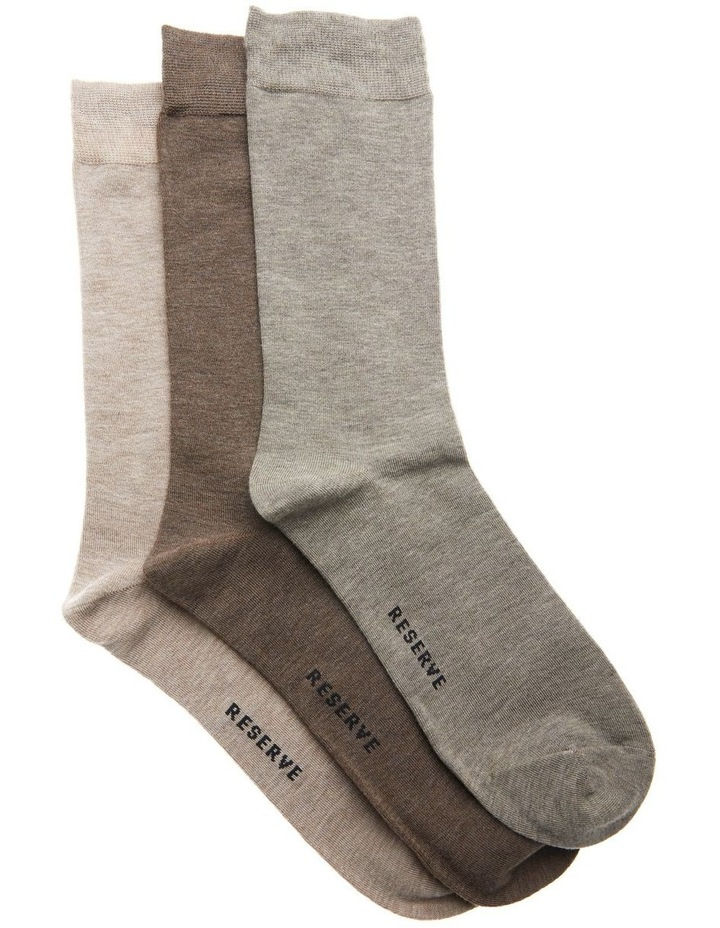 3 Pack Luxe Bamboo Marle Socks image 1