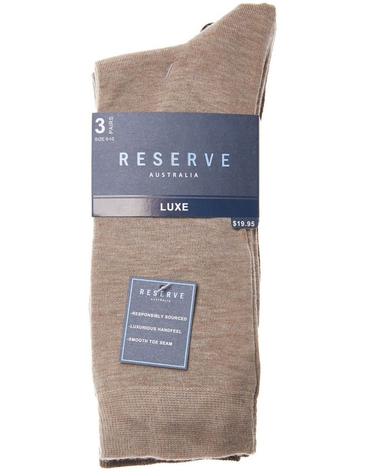 3 Pack Luxe Bamboo Marle Socks image 2