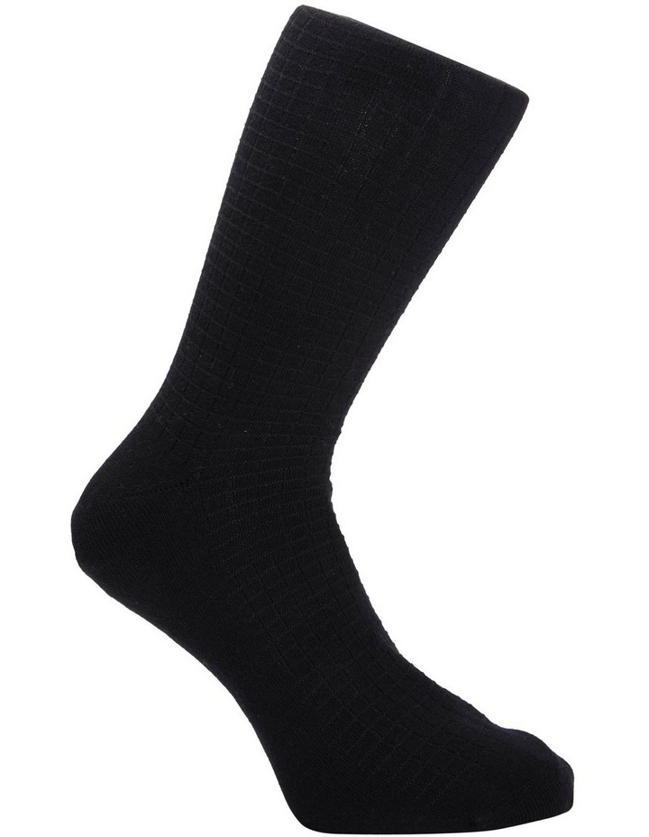 3 Pack Cotton Textured Square Socks image 3