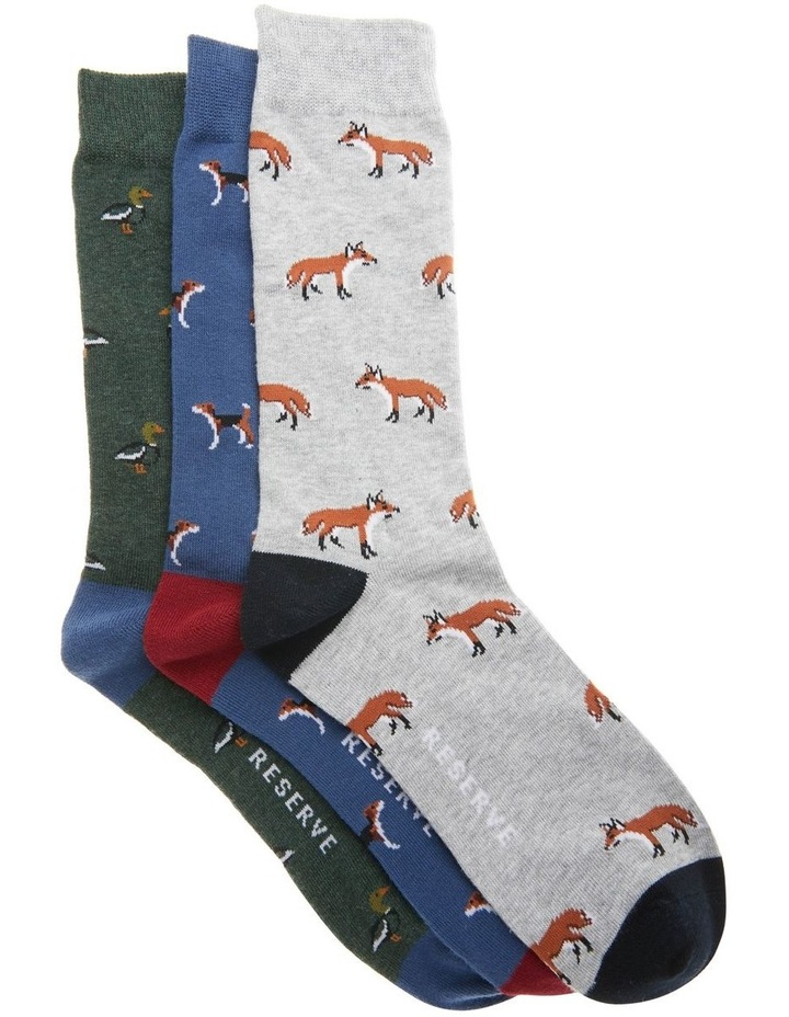 3 Pack Cotton Woodlands Socks image 1