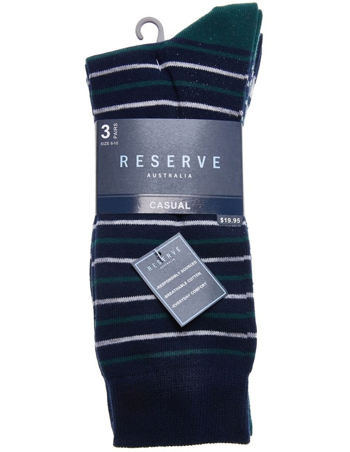 3 Pack Cotton Stripe Socks image 2