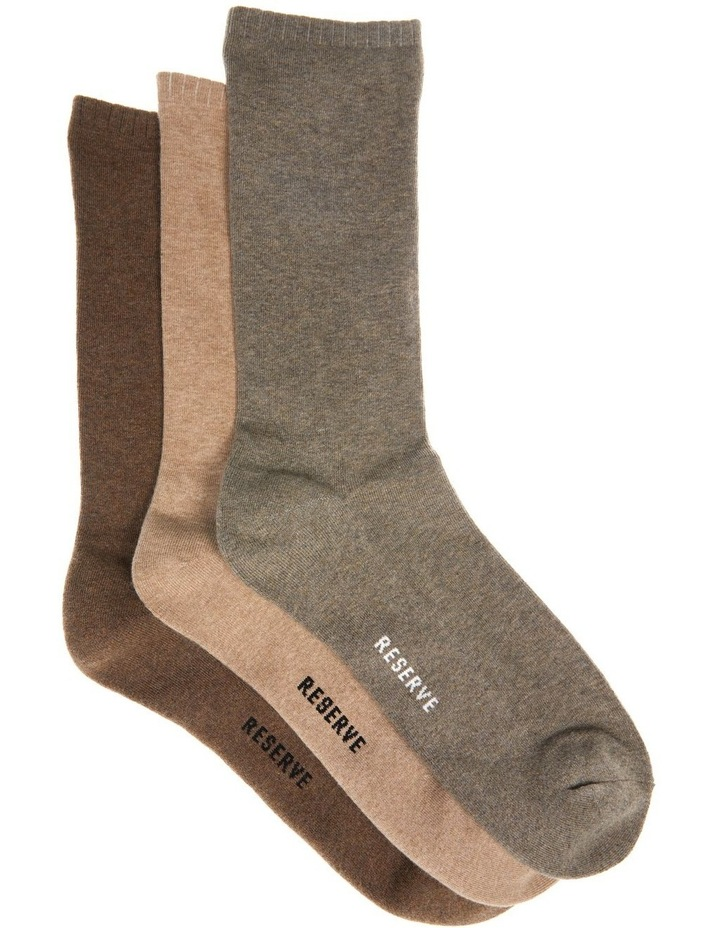 3 Pack Plain Comfort Weekend Socks image 1