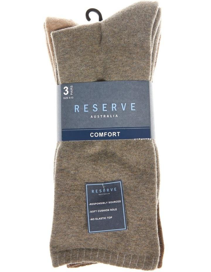 3 Pack Plain Comfort Weekend Socks image 2