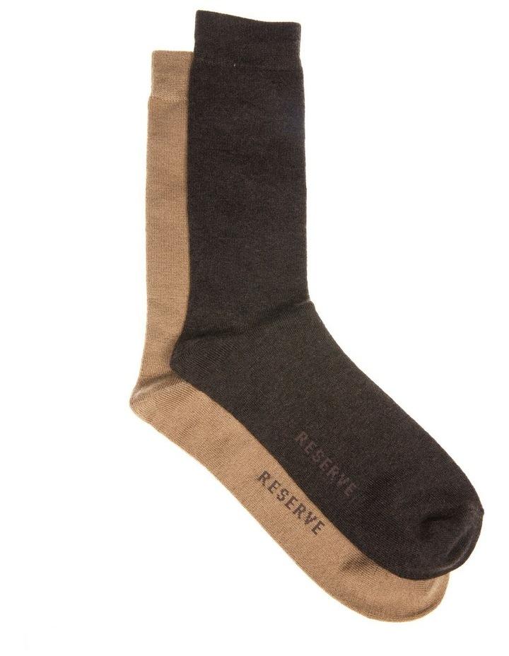 2 Pack Woolblend Socks image 1