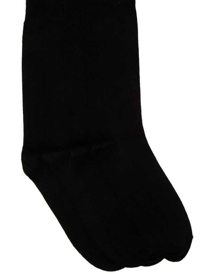 4 Pack Fine Cotton Crew Sock - King Size image 1