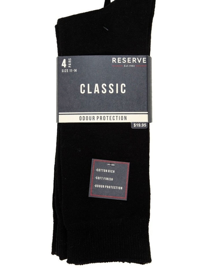 4 Pack Fine Cotton Crew Sock - King Size image 2