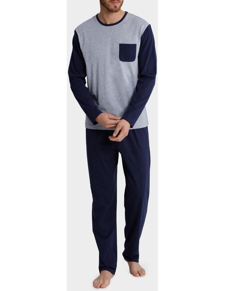 Long Sleeve Crew Neck Tee & Knit Pant set - Panel Marle image 1