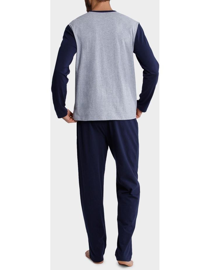 Long Sleeve Crew Neck Tee & Knit Pant set - Panel Marle image 2