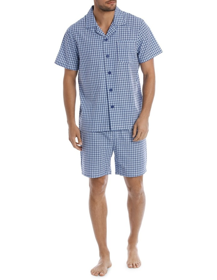 Summer Check Short Sleeve Poplin Pyjama Set image 1