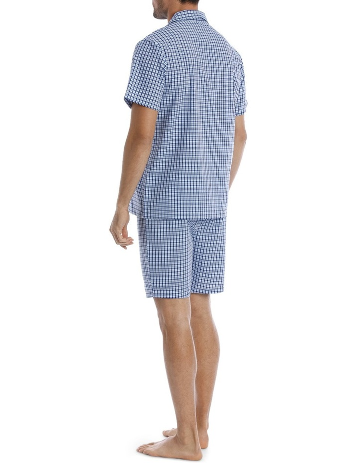 Summer Check Short Sleeve Poplin Pyjama Set image 2