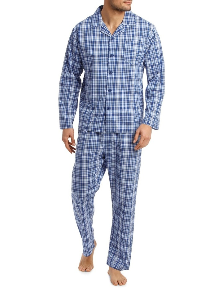 Long Sleeve Poplin Check Pyjama Set image 1
