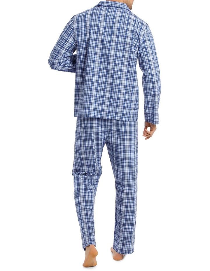 Long Sleeve Poplin Check Pyjama Set image 2