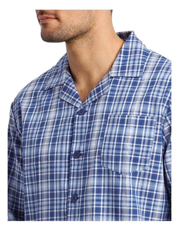 Long Sleeve Poplin Check Pyjama Set image 3