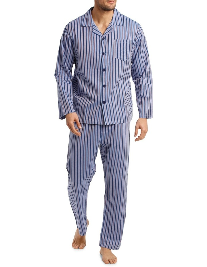 Long Sleeve Poplin Stripe Pyjama Set image 1
