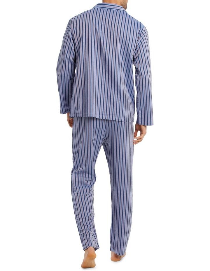 Long Sleeve Poplin Stripe Pyjama Set image 2