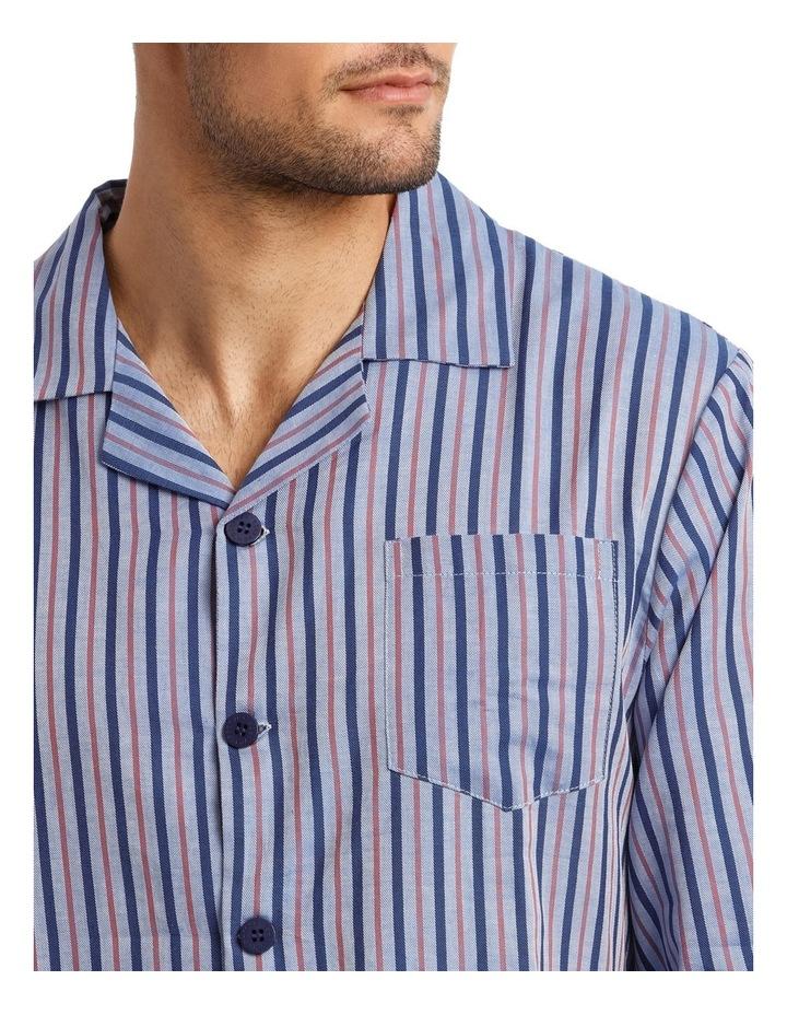 Long Sleeve Poplin Stripe Pyjama Set image 3