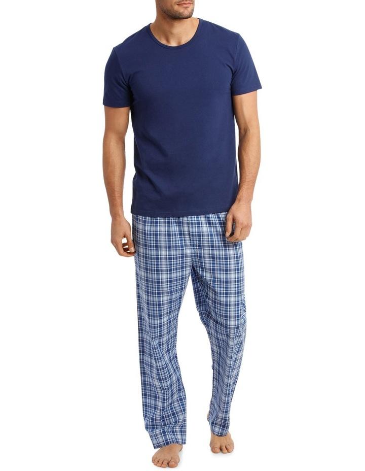 Short Sleeve Tee & Check Pant Set image 1
