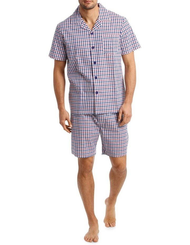 Dobby Check Short Sleeve Poplin Pyjama Set image 1
