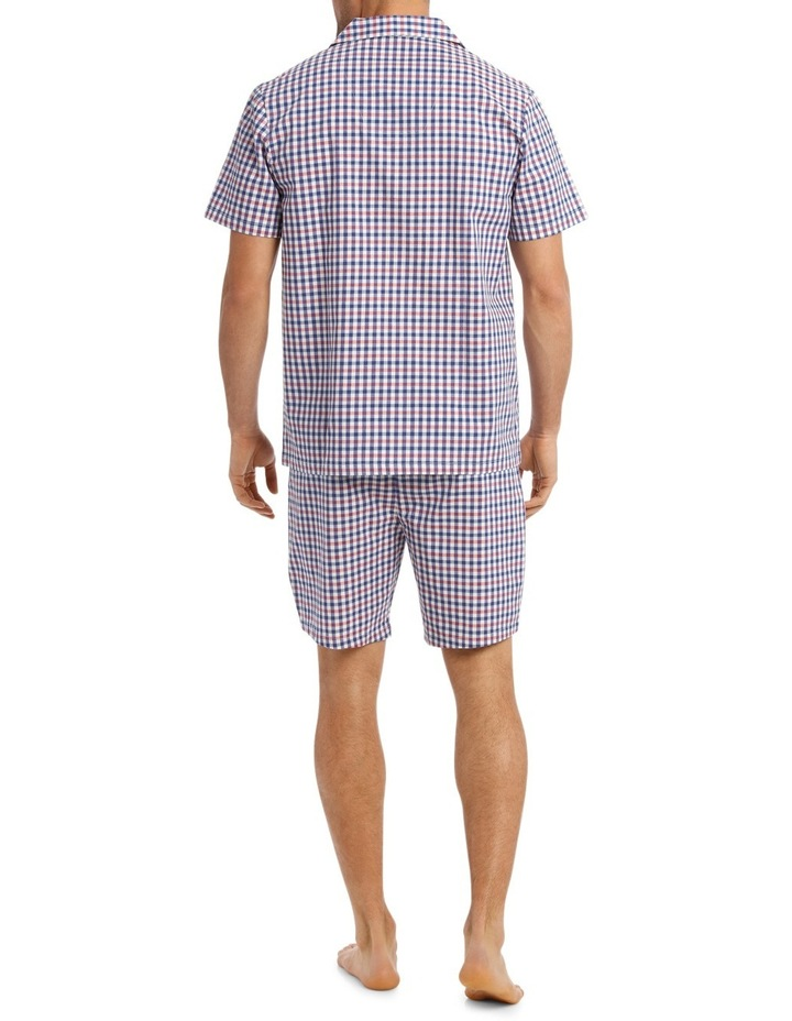 Dobby Check Short Sleeve Poplin Pyjama Set image 2