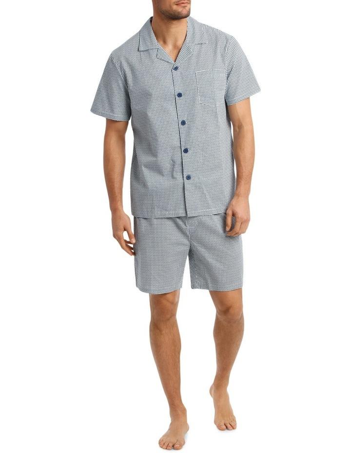 Stitch Print Short Sleeve Poplin Pyjama Set image 1