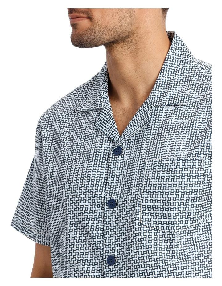 Stitch Print Short Sleeve Poplin Pyjama Set image 3