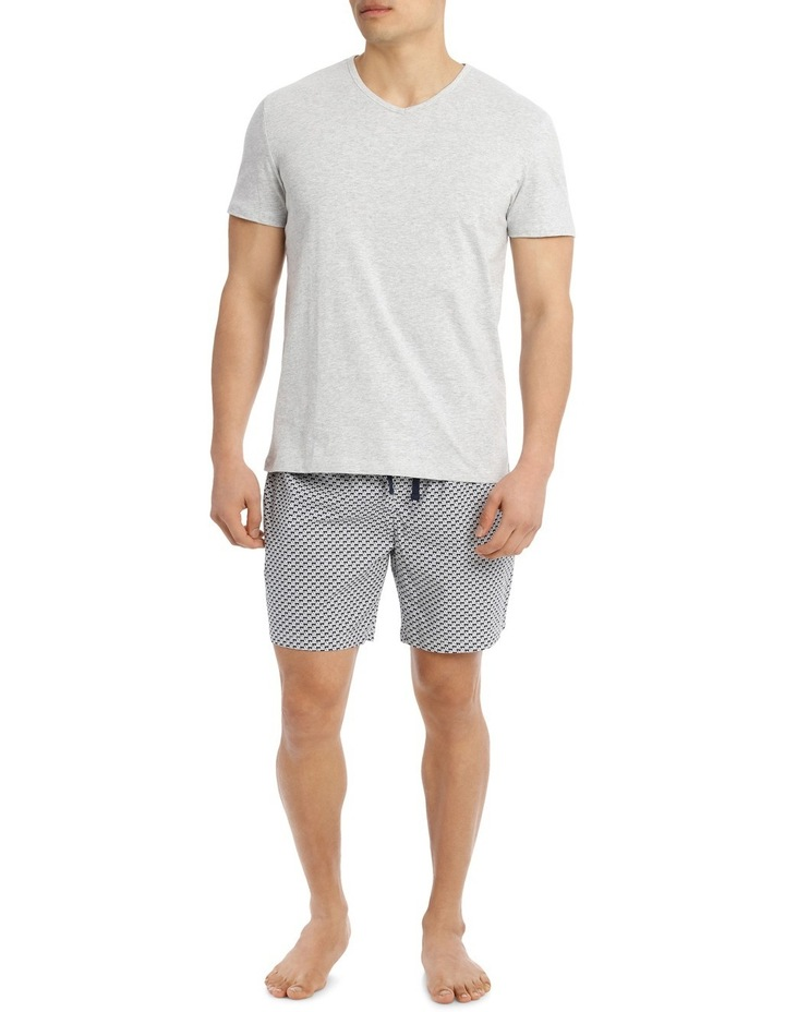 Sailboat V Neck Tee & Poplin Short Set image 1