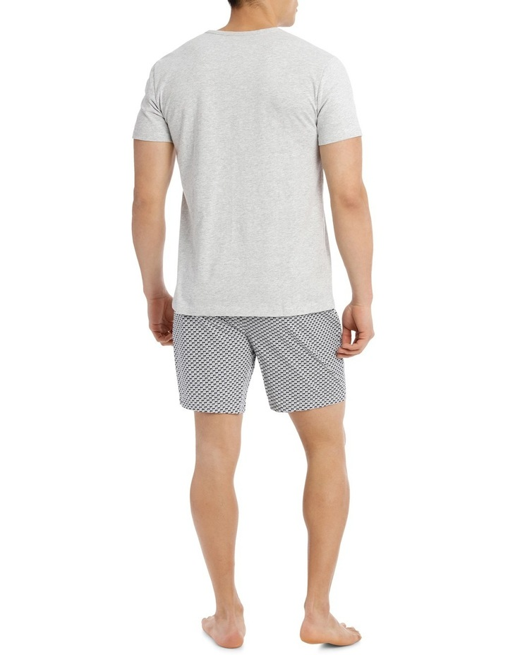 Sailboat V Neck Tee & Poplin Short Set image 2