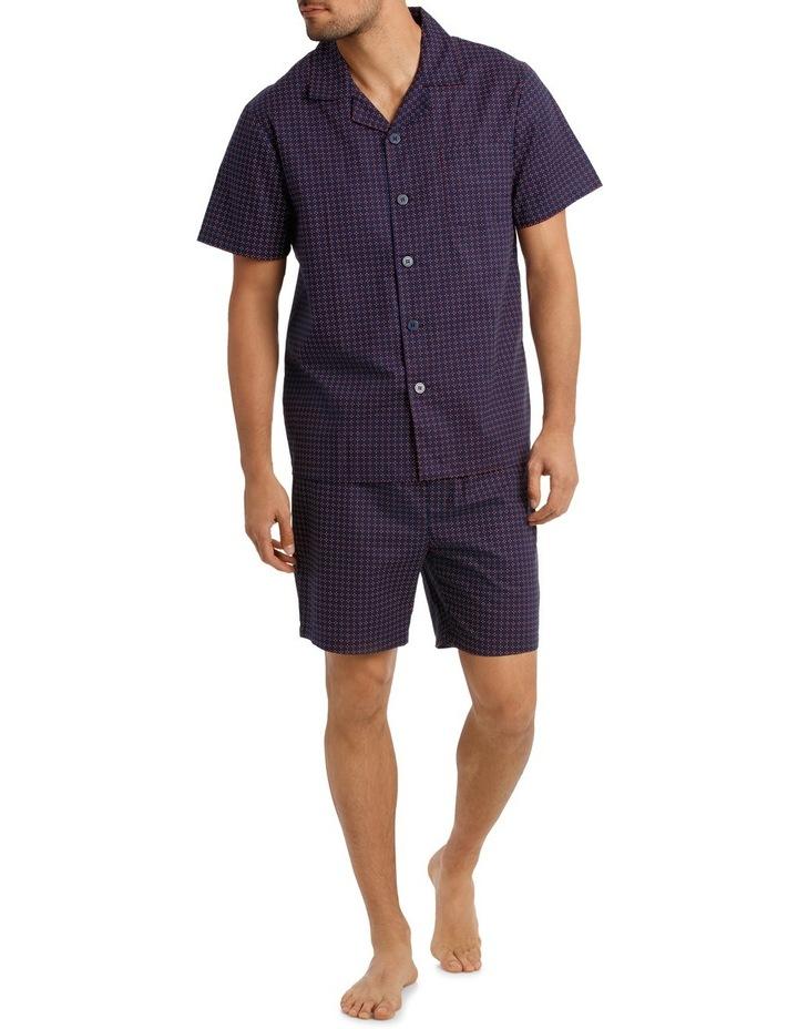 Geo Neat Short Sleeve Poplin Pyjama Set image 1