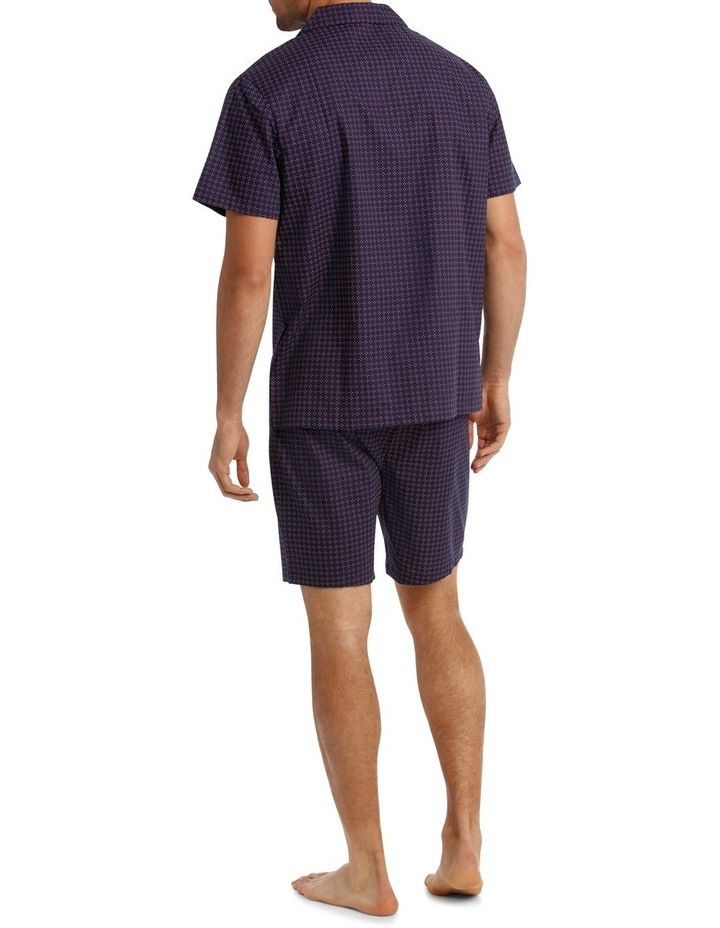 Geo Neat Short Sleeve Poplin Pyjama Set image 2