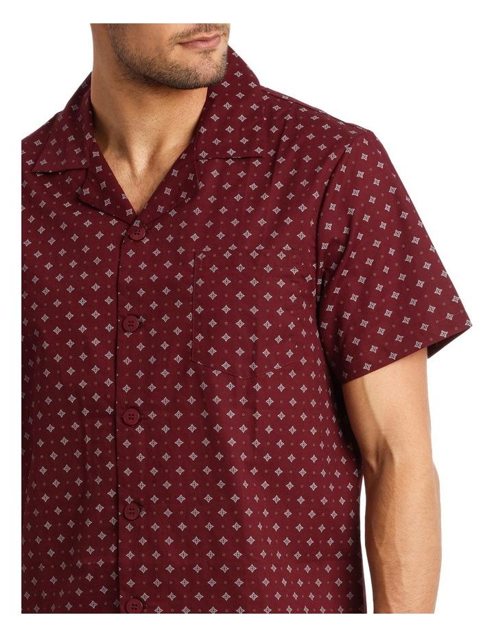 Short Sleeve Poplin Geo Diamond Pyjama Set image 3