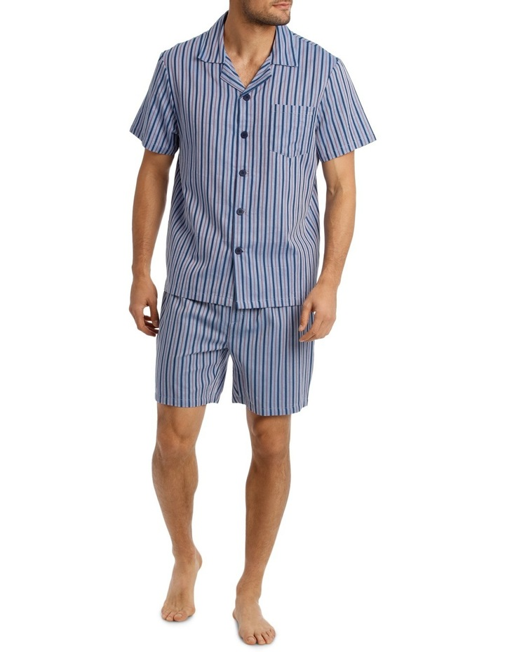 Short Sleeve Poplin Stripe Pyjama Set image 1