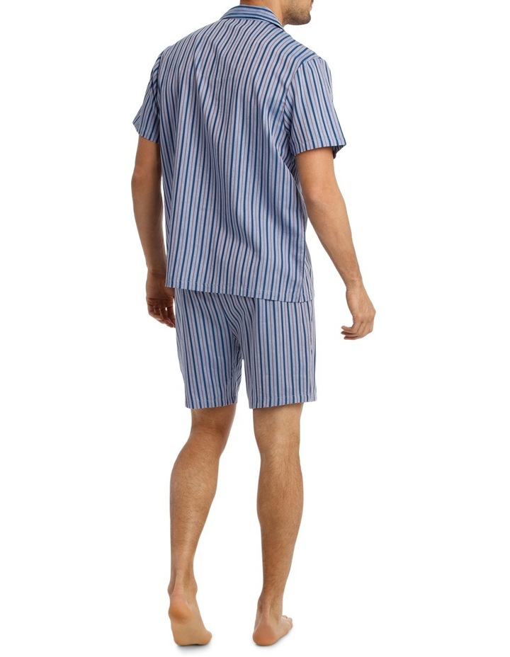 Short Sleeve Poplin Stripe Pyjama Set image 2