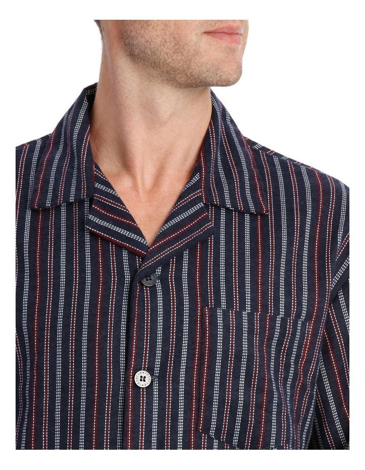Essentials Long Sleeve Flanelette PJ Set - Stitch Stripe image 2