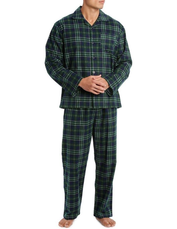 Essentials Long Sleeve Flanelette PJ Set - Traditional Check image 1