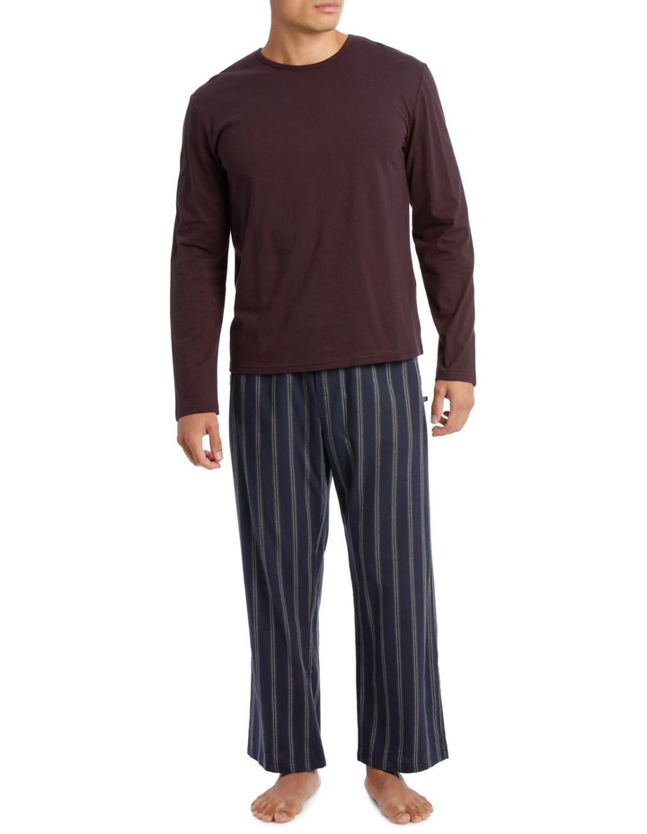 Essentials Long Sleeve Tee & Flanelette Pant PJ Set - Geo image 1