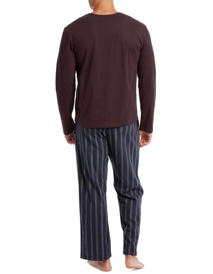 Essentials Long Sleeve Tee & Flanelette Pant PJ Set - Geo image 2