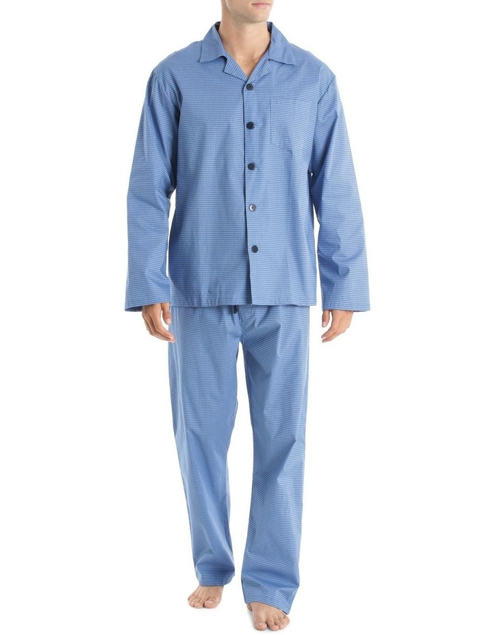 Essentials Long Sleeve Poplin PJ Set - Circles image 1