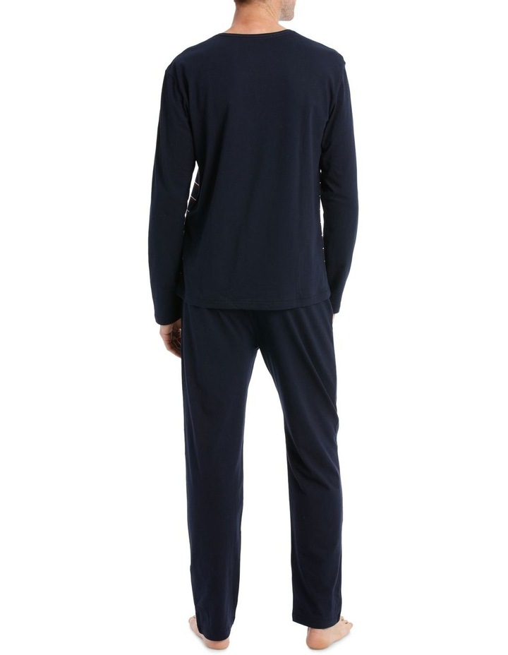 Essentials Long Sleeve Stripe Knit PJ set - Berry Stripe image 2