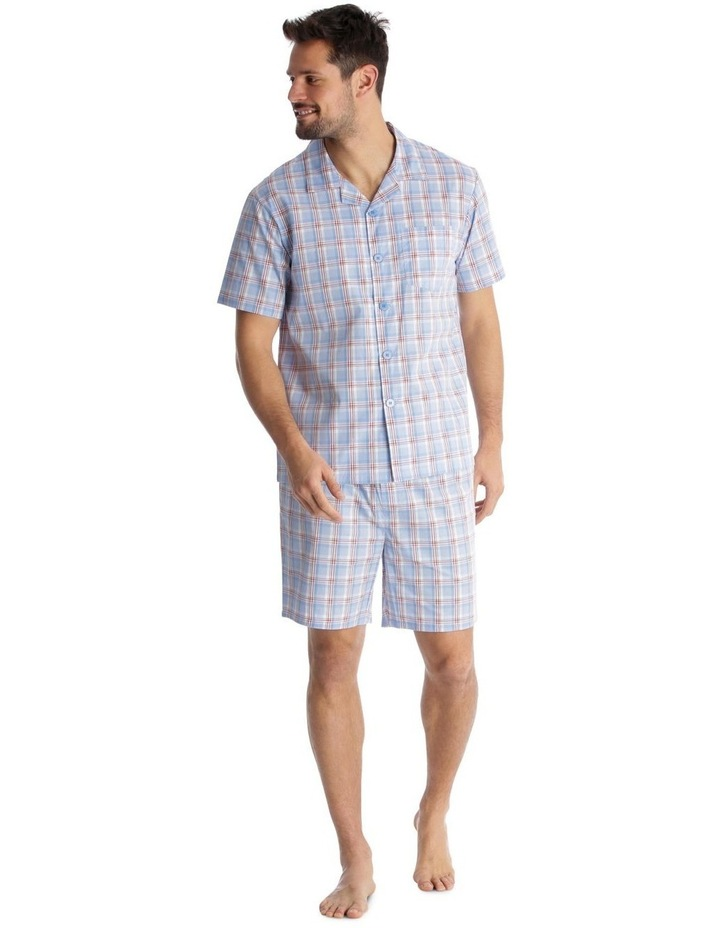Essentials Short-Sleeve Pyjama Set - Maritime Check image 1