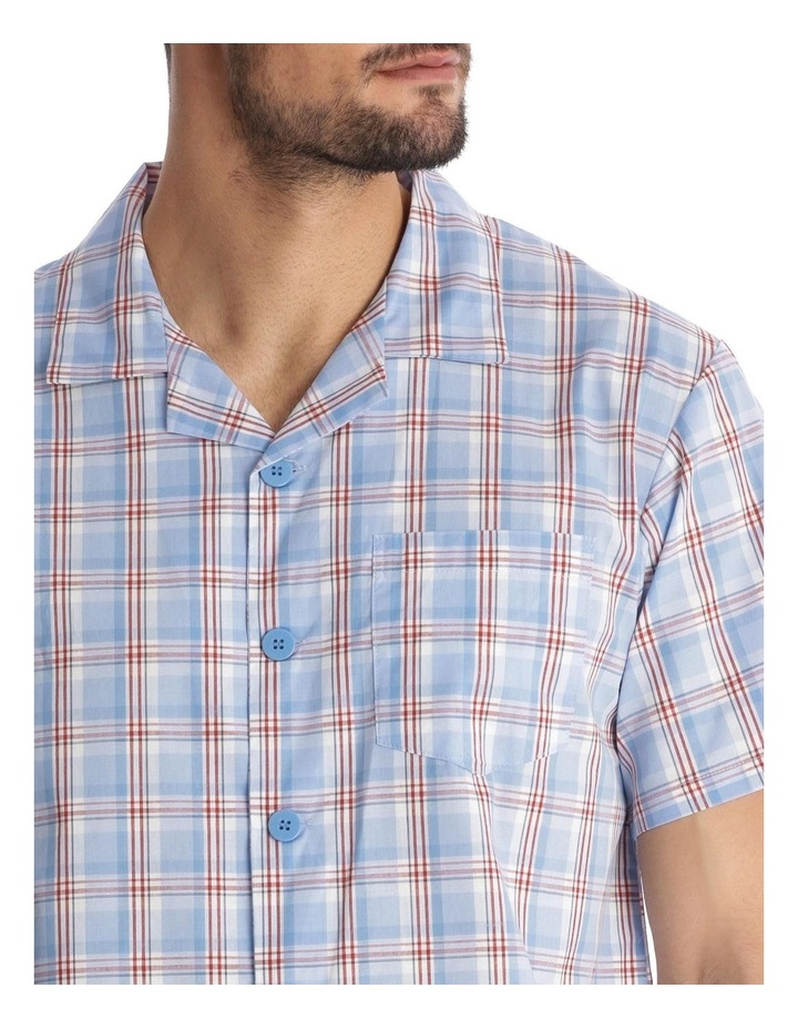 Essentials Short-Sleeve Pyjama Set - Maritime Check image 3