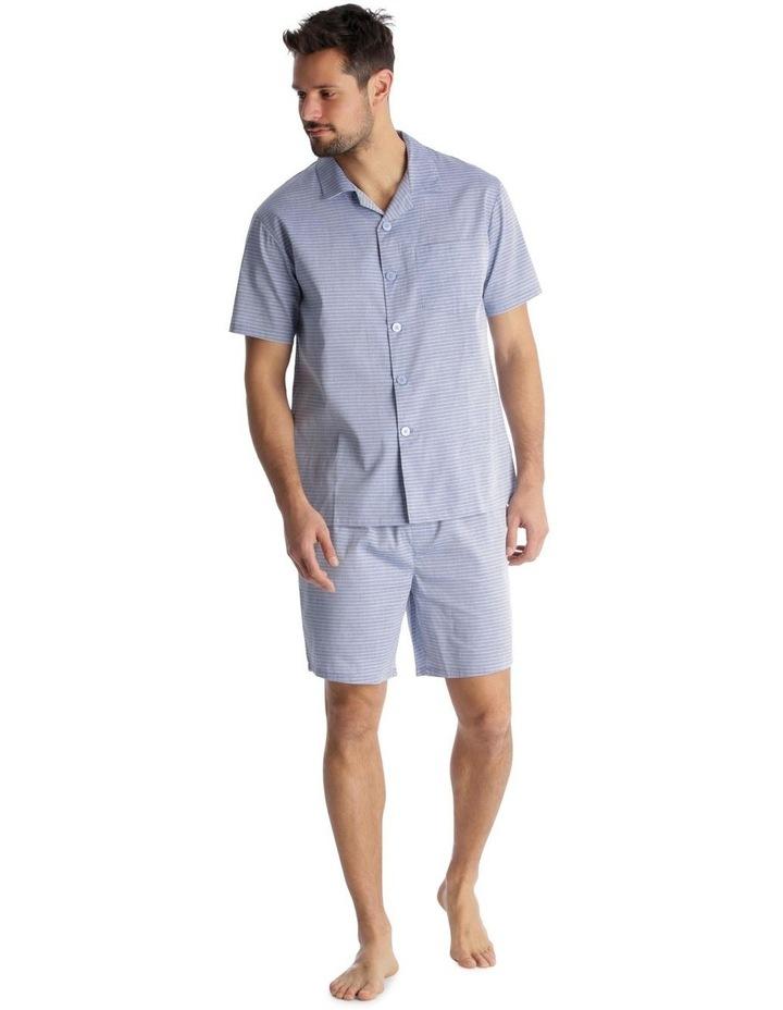 Essentials Short-Sleeve Pyjama Set - Chambray Stripe image 1