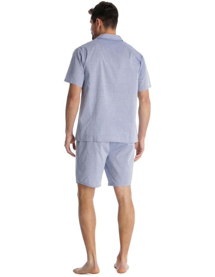 Essentials Short-Sleeve Pyjama Set - Chambray Stripe image 2