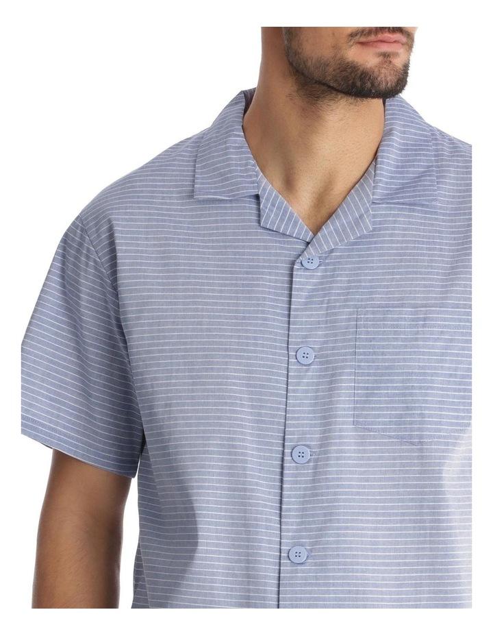 Essentials Short-Sleeve Pyjama Set - Chambray Stripe image 3