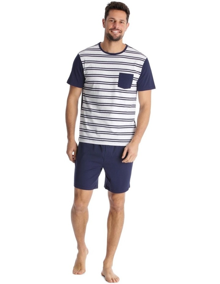 Essentials Short-Sleeve Knit Pyjama Set - Maritime Stripe image 1