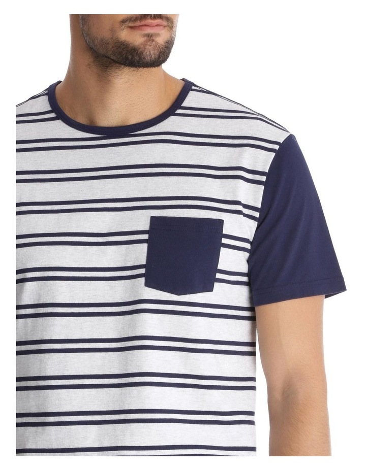 Essentials Short-Sleeve Knit Pyjama Set - Maritime Stripe image 3
